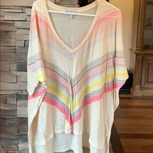 Wildfox over size diagonal stripe shirt size small